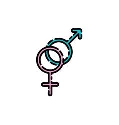Sex shop flat icon vector image vector image
