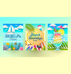 summer holidays and tropical vacation vector image vector image