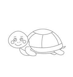 turtle for coloring book vector image