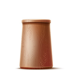 3d wooden cup for painting tools vector image