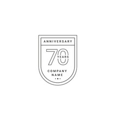 70 years anniversary celebration your company vector