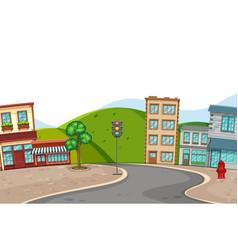 A city town scene vector
