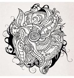 Abstract doodles decorative landscape vector image