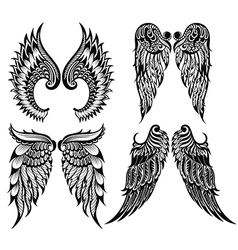 Abstract wings set vector image