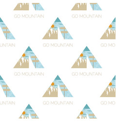 adventure seamless pattern with camping tent vector image