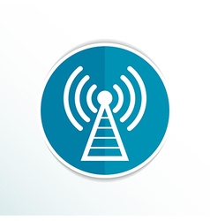 Antenna icon tower radio mast signal antenna vector