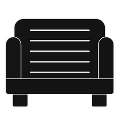 Armchair icon simple style vector