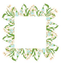 beautiful easter wreath elegant floral frame hand vector image