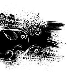 Black splash background vector