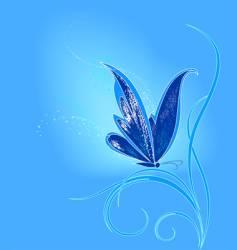 Blue butterfly vector