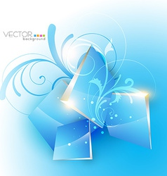 blue floral vector image