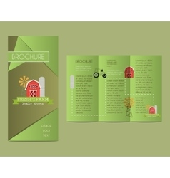 Brochures and flyer design template in polygonal vector