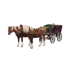 Carriage with horses vector