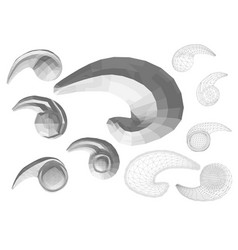 carved decor 1 vector image