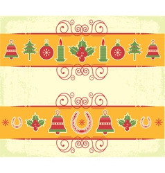 christmas decor elements for designNew year image vector image