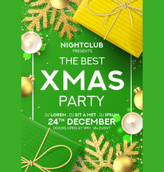 christmas party poster invitation vector image