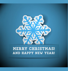 Christmas snowflake applique vector image