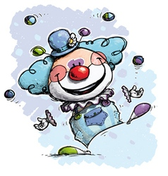Clown Juggling Boy Colors vector