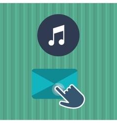 Communication design Cursor icon Colorful vector image