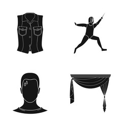 curtains cornices textiles and other web icon in vector image
