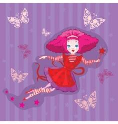 cute fairy cartoon vector vector image