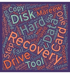 Data Recovery Tips text background wordcloud vector