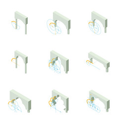 Design of the arch icons set isometric style vector