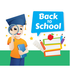 design template for back to school back to school vector image