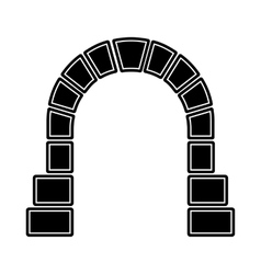 Entrance to railway tunnel icon simple style vector