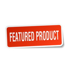 Featured product square sticker on white vector