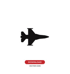 fighter jet icon vector image