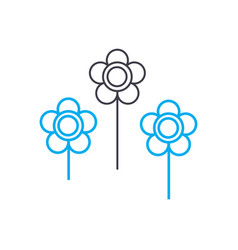 flower bed linear icon concept flower bed line vector image