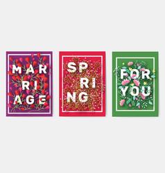 flower theme for design gift flyers vector image