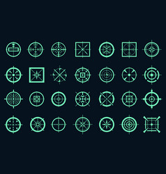 game target cross icons vector image