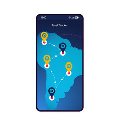 gps tracker smartphone interface template vector image