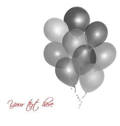 Grey balloons vector