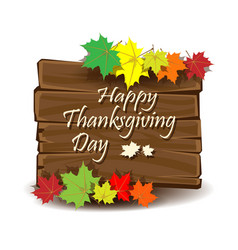 happy thanksgiving day colorful background vector image