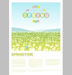 Hello spring landscape background 3 vector