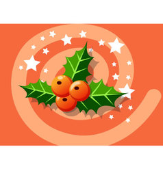 Holly berry icon christmas vector