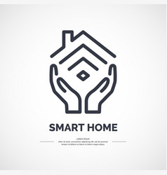 icon of smart home vector image