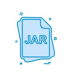 jar file type icon design vector image