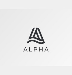 letter a line logo design creative vector image