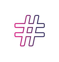 line numeral symbol design type icon vector image