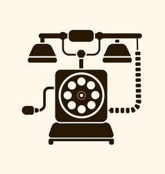 logo retro phone on light background vector image