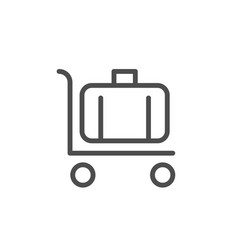 luggage moving line icon vector image