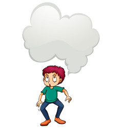 man with blank idea cloud vector image