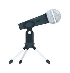Microphone flat vector