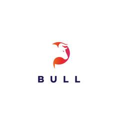 modern abstract bull head logo design premium vector image