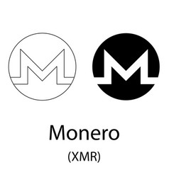 Monero black silhouette vector