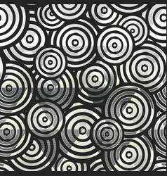 monochrome circle geometric seamless pattern vector image
